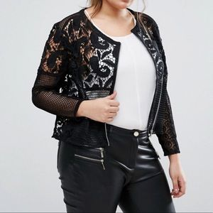 [ASOS] Lace Jacket Black